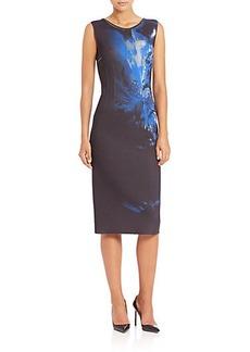 Elie Tahari Gwenyth Floral Print Dress