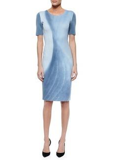 Elie Tahari Gwenyth Short-Sleeve Marble-Print Sheath Dress  Gwenyth Short-Sleeve Marble-Print Sheath Dress