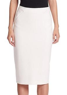 Elie Tahari Harla Double-Zipper Pencil Skirt