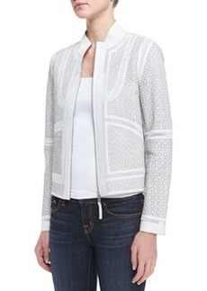Elie Tahari Highland Lambskin Zip-Front Jacket