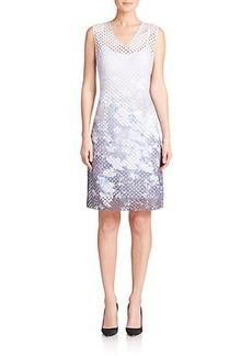 Elie Tahari Holly Neoprene Mesh Dress