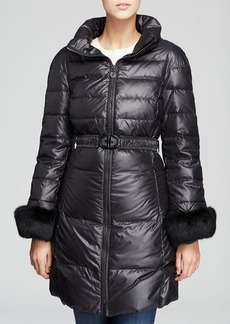 Elie Tahari Ireland Belted Down Coat