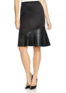 Elie Tahari Isabella Mixed Media Skirt