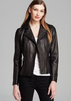 Elie Tahari Jacket - Collete Leather Moto