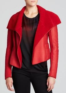 Elie Tahari Jacqueline Shearling Jacket