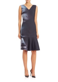 Elie Tahari Jadyn Printed Flippy Dress