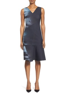 Elie Tahari 'Jadyn' Sleeveless Flare Hem Sheath Dress
