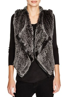Elie Tahari Jana Mixed Media Fur Vest