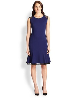 Elie Tahari Jasmine Mesh-Detail Dress