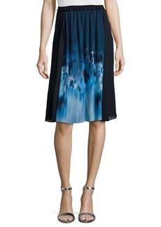 Elie Tahari Jenna Floral-Print Pleated Skirt  Jenna Floral-Print Pleated Skirt