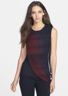 Elie Tahari 'Jessica' Silk Overlay Sleeveless Blouse