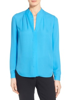 Elie Tahari 'Judith' Split Neck Silk Georgette Blouse