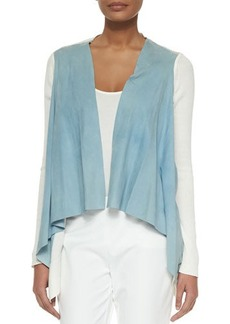 Elie Tahari Judy Suede and Knit Jacket  Judy Suede and Knit Jacket