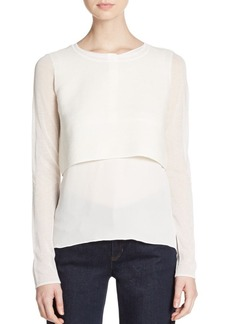 Elie Tahari Juliana Cotton & Silk Top