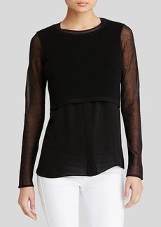 Elie Tahari Juliana Shirttail Sweater