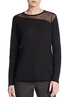 Elie Tahari Kaori Sheer-Panel Sweater