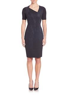 Elie Tahari Karli Printed Panel Dress