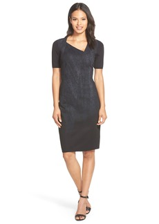 Elie Tahari 'Karli' Scuba Knit Sheath Dress