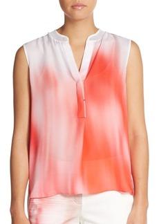 Elie Tahari Kasha Ombre Silk Blouse