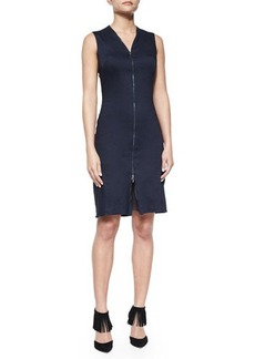 Elie Tahari Kate Sleeveless Zip-Front Dress  Kate Sleeveless Zip-Front Dress
