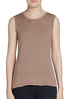Elie Tahari Kemper Cotton & Silk Knit Top