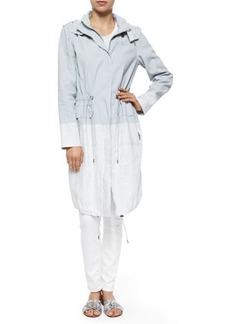 Elie Tahari Kendra Colorblock Long Coat