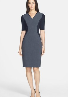 Elie Tahari 'Kenley' Stretch Wool Sheath Dress