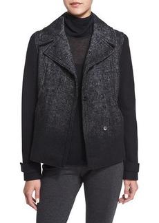 Elie Tahari Kiana Woven Snap-Front Coat  Kiana Woven Snap-Front Coat