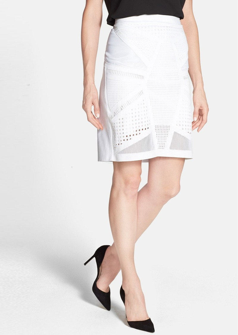 Elie Tahari 'Kim' Cotton Skirt