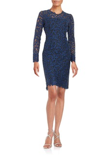 ELIE TAHARI Lace Sheath Dress