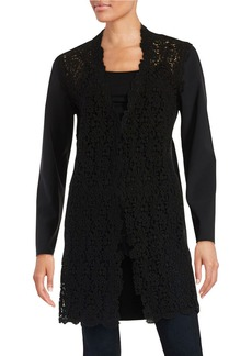 ELIE TAHARI Lace Top Coat
