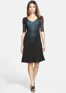 Elie Tahari 'Lara' V-Neck Knit Dress