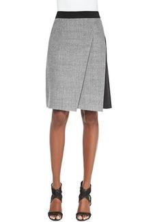 Elie Tahari Larissa Diagonal-Pleat Combo Skirt