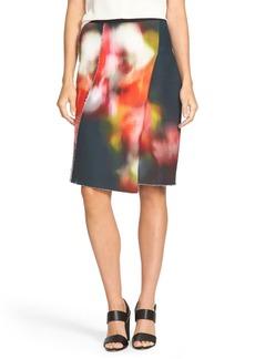 Elie Tahari 'Larissa' Print Front Stretch Jersey Skirt