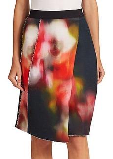 Elie Tahari Larissa Printed Asymmetrical Skirt