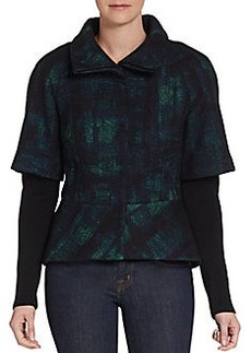 Elie Tahari Layered-Look Peplum Jacket