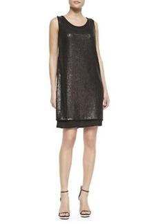 Elie Tahari Leanna Sleeveless Shift Dress, Black