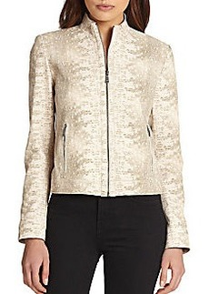 Elie Tahari Leather Cleary Jacket