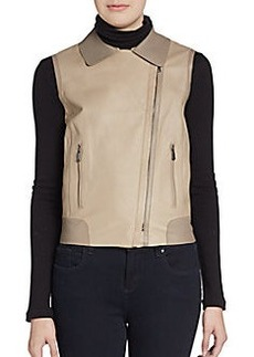 Elie Tahari Leather Katie Vest