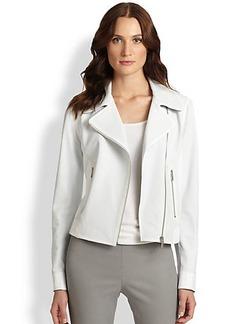 Elie Tahari Leather Mae Jacket