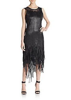 Elie Tahari Leather Milan Dress