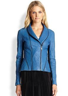 Elie Tahari Leather Yasmine Jacket