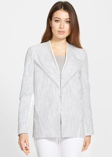 Elie Tahari 'Leeann' Mixed Media Jacket