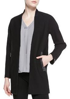 Elie Tahari Leeann Zip-Detail Knit Coat