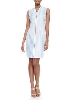 Elie Tahari Leslie Sleeveless Zip-Front Dress  Leslie Sleeveless Zip-Front Dress