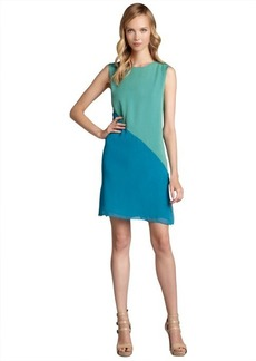 Elie Tahari liberty green and ocean silk chiffon 'Vanessa' dress