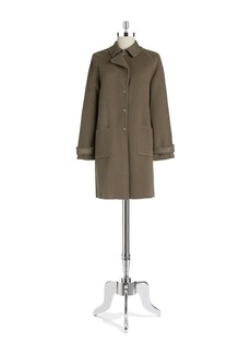ELIE TAHARI Lightweight Long Wool Coat