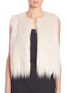 Elie Tahari Lillian Faux Fur Vest