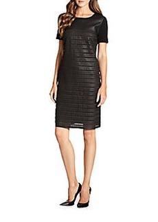 Elie Tahari Linda Leather Dress