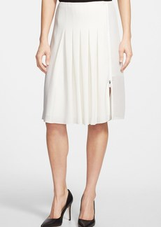 Elie Tahari 'Linda' Mesh Detail Crepe Skirt